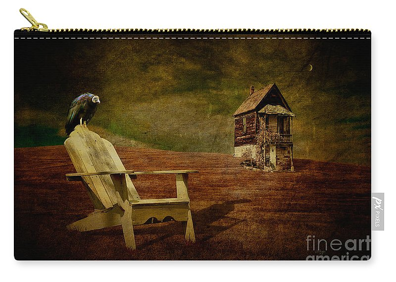Hard Times Carry-all Pouch featuring the photograph Hard Times by Lois Bryan
