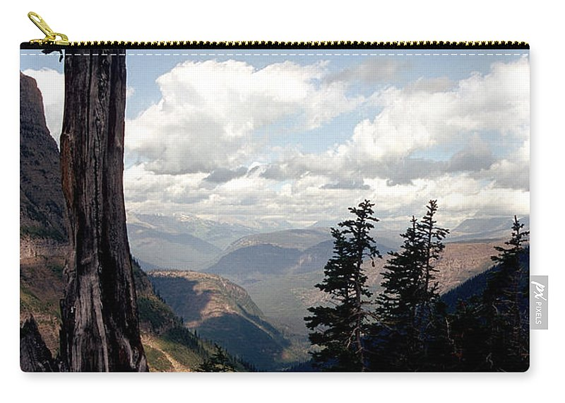Glacier Park Carry-all Pouch featuring the photograph Hard To Live At 7000 Feet by Sharon Elliott
