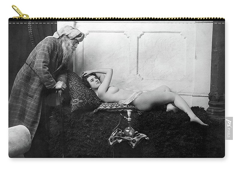 1890 Carry-all Pouch featuring the photograph Harem, C1900 by Granger