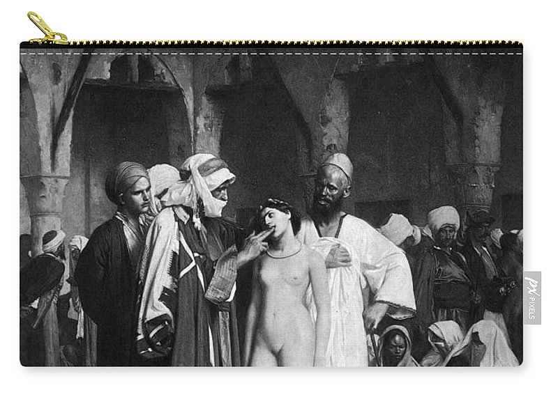 19th Century Carry-all Pouch featuring the painting Harems Slave Market by Granger