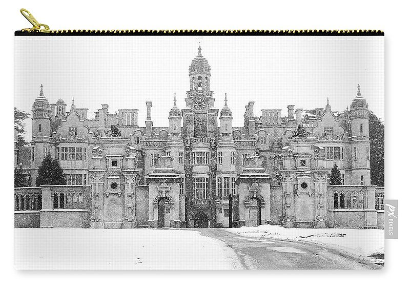 Harlaxton Carry-all Pouch featuring the photograph Harlaxton Manor by Tiffany Erdman