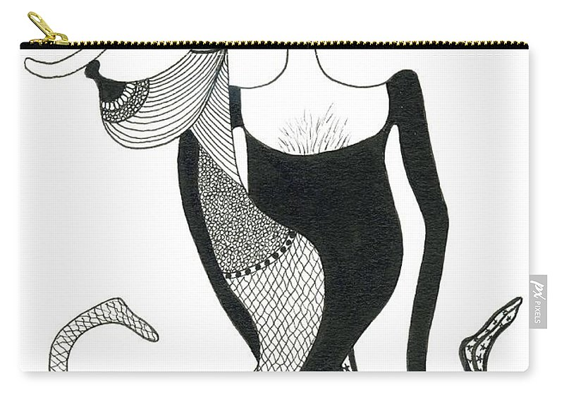 Genia Carry-all Pouch featuring the drawing Harlekin Trunks by Genia GgXpress