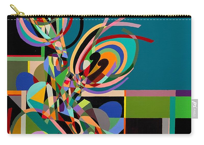 Landscape Carry-all Pouch featuring the painting Harlequin by Allan P Friedlander