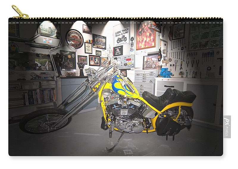 Harley Davidson Carry-all Pouch featuring the photograph Harley Operating Room by Randall Branham