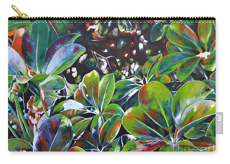Money Tree Carry-all Pouch featuring the painting Harmony by Larry Geyrozaga