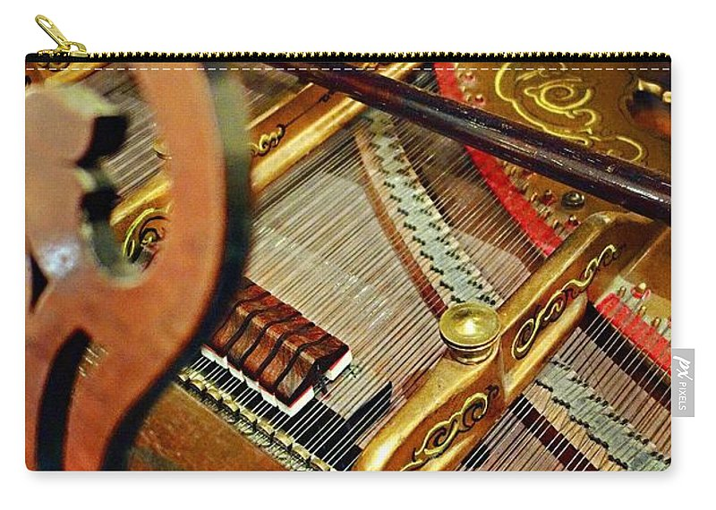 Harpsichord Carry-all Pouch featuring the photograph Harpsichord by Joan Reese