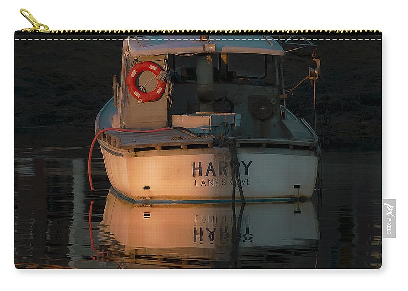 Lobster Boat Carry-all Pouch featuring the photograph Harry - Lane's Cove by David Stone