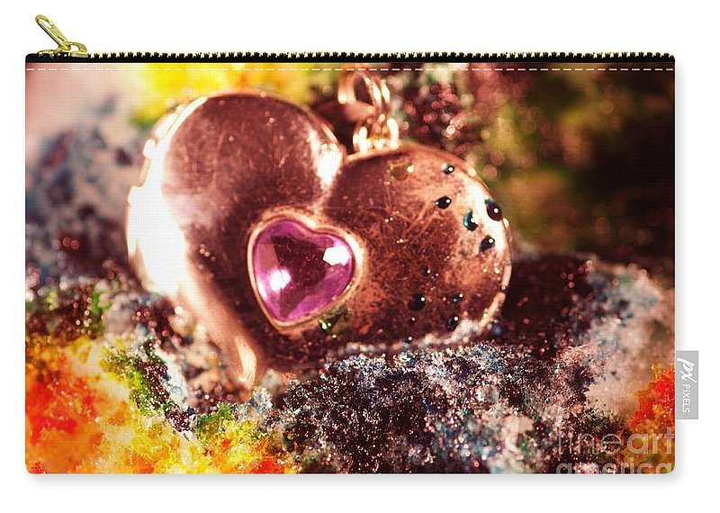 Carry-all Pouch featuring the photograph Hart Melting In Color Snow by Gerald Kloss