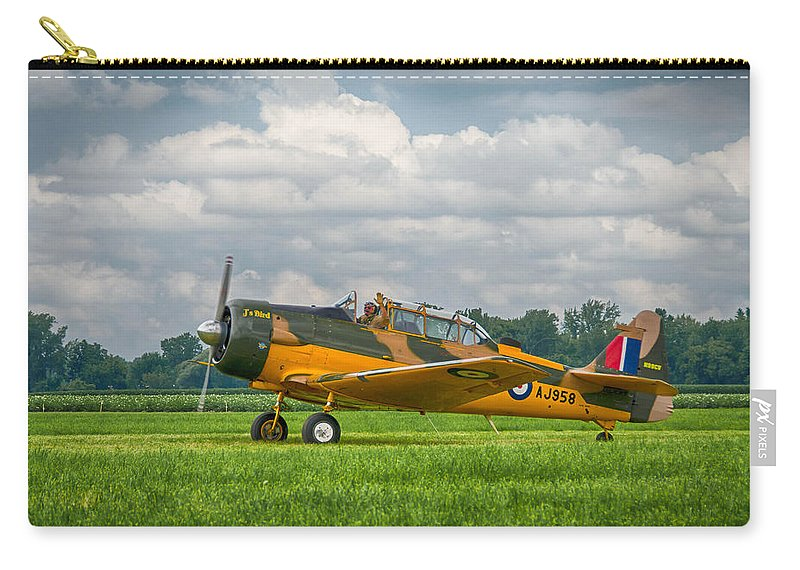 Aviation Carry-all Pouch featuring the photograph Harvard 4  7d03797 by Guy Whiteley