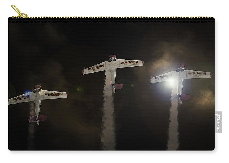 North American T-6 Texan/harvard Carry-all Pouch featuring the photograph Harvard Light by Paul Job