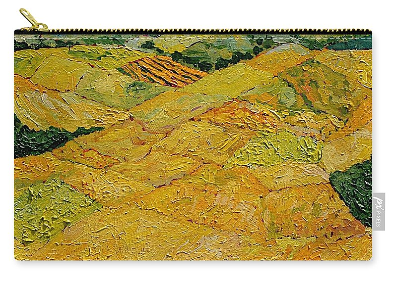 Landscape Carry-all Pouch featuring the painting Harvest Joy by Allan P Friedlander