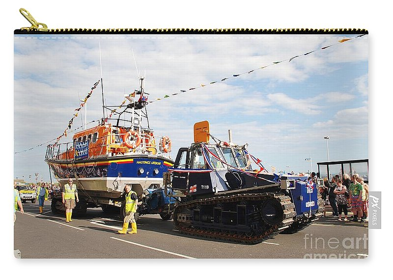 Lifeboat Carry-all Pouch featuring the photograph Hastings Lifeboat by David Fowler