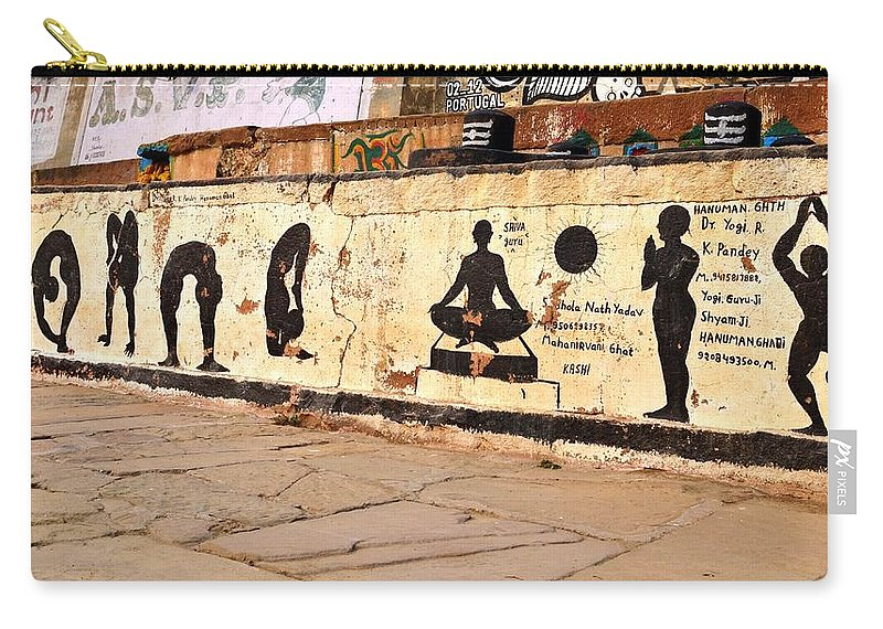 Hatha Yoga Wall Art - Varanasi India Carry-all Pouch for Sale by Kim ...