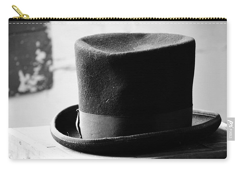 Hat Carry-all Pouch featuring the photograph Hats Off Insults by The Artist Project