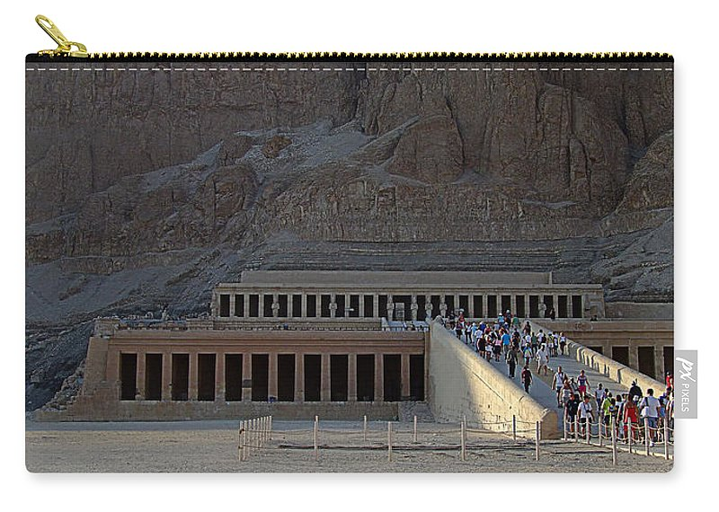 Africa Carry-all Pouch featuring the photograph Hatshepsut Temple 06 by Antony McAulay