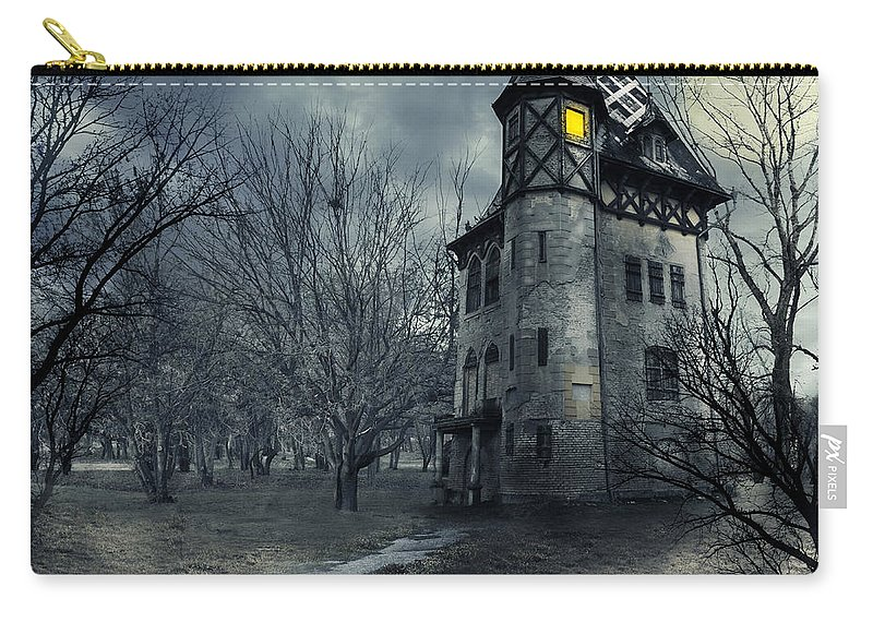 House Carry-all Pouch featuring the photograph Haunted House by Jelena Jovanovic