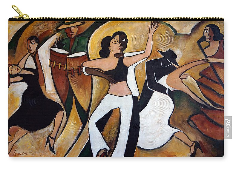 Cuba Carry-all Pouch featuring the painting Havana Nights by Valerie Vescovi