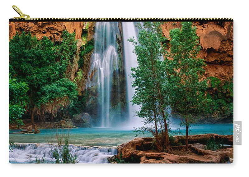 America Carry-all Pouch featuring the photograph Havasu Cascades by Inge Johnsson