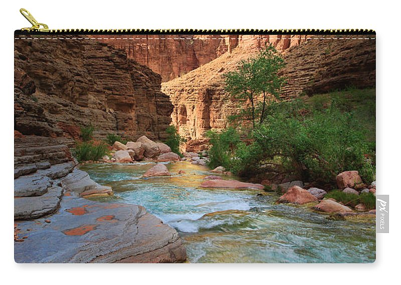 America Carry-all Pouch featuring the photograph Havasu Creek by Inge Johnsson