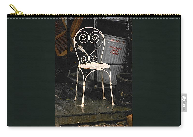 Chairs Carry-all Pouch featuring the photograph Have A Seat by Ira Shander