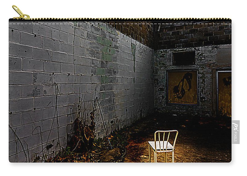 Abandoned Carry-all Pouch featuring the photograph Have A Seat by Ken Frischkorn