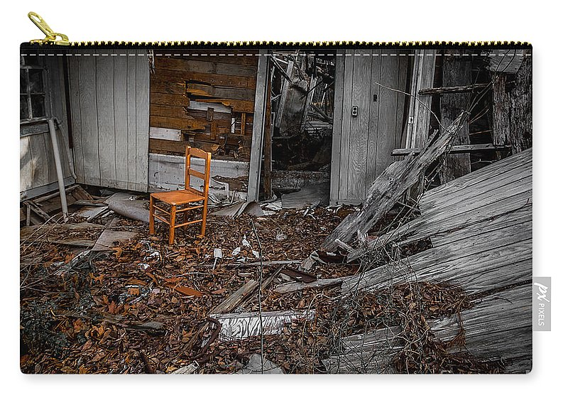 Abandoned Carry-all Pouch featuring the photograph Have A Seat Two by Ken Frischkorn