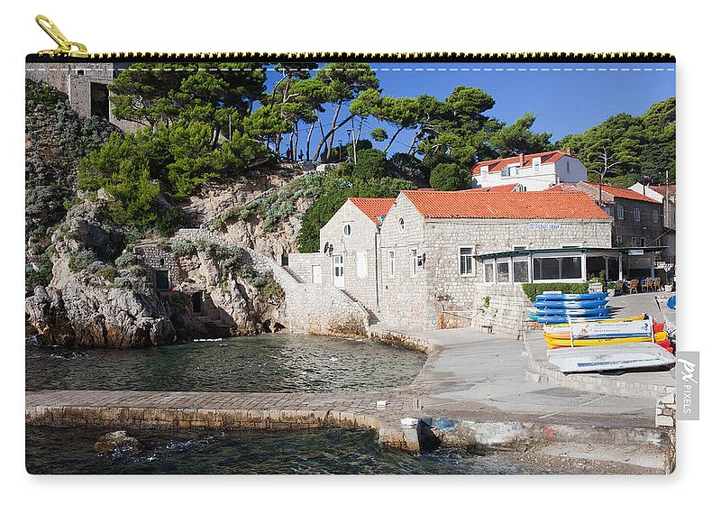 Croatia Carry-all Pouch featuring the photograph Haven In Dubrovnik by Artur Bogacki