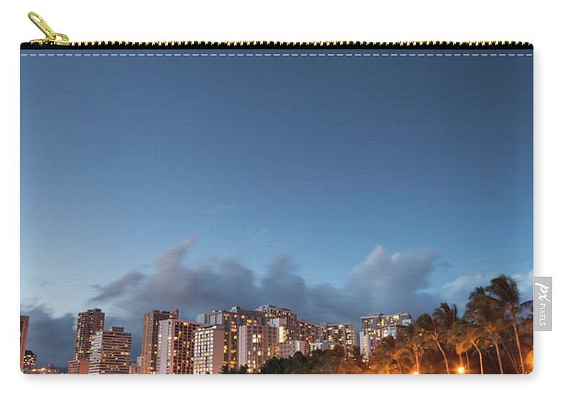 Honolulu Carry-all Pouch featuring the photograph Hawaii, Oahu, Honolulu by Michele Falzone