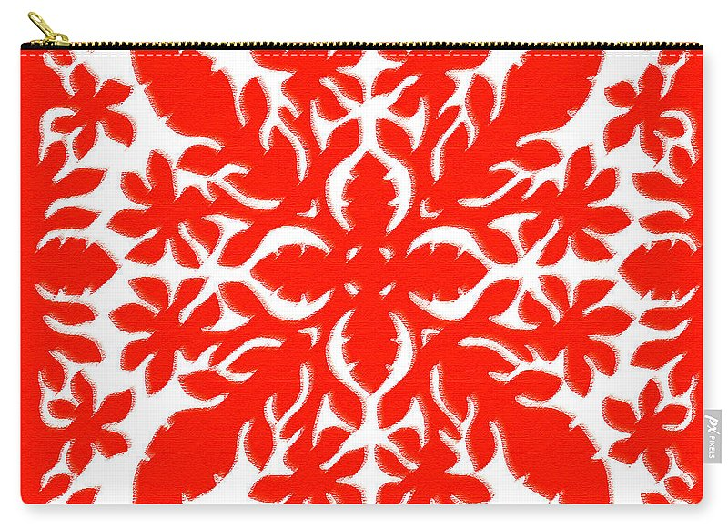 Hawaii Iphone Cases Carry-all Pouch featuring the digital art Hawaiian Hibiscus by James Temple