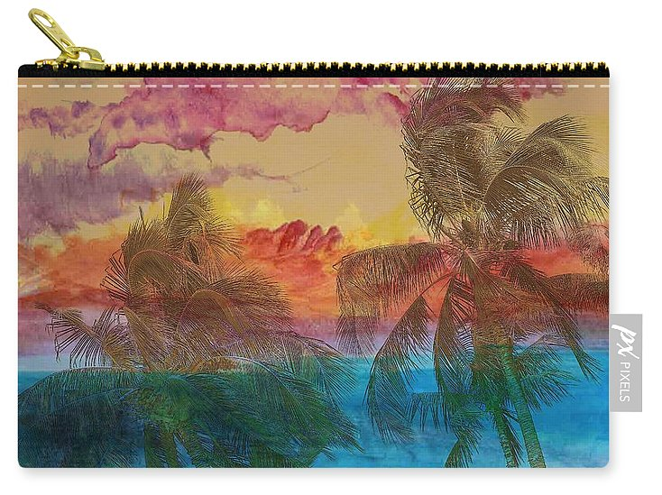 Hawaii Carry-all Pouch featuring the photograph Hawaiian Sunset by Athala Bruckner