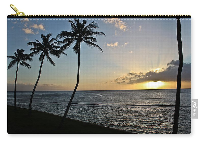 Maui Carry-all Pouch featuring the photograph Hawaiian Sunset by Joann Copeland-Paul