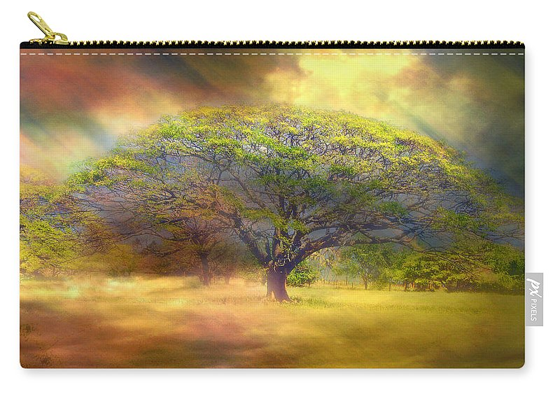Hawaii Carry-all Pouch featuring the photograph Hawaiian Tree by Claude LeTien
