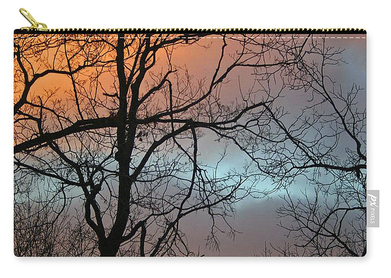 Sunrise Carry-all Pouch featuring the photograph Hawk At Dawn by Karen Adams