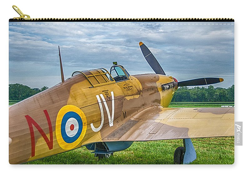 Aviation Carry-all Pouch featuring the photograph Hawker Hurricane 7d08c by Guy Whiteley