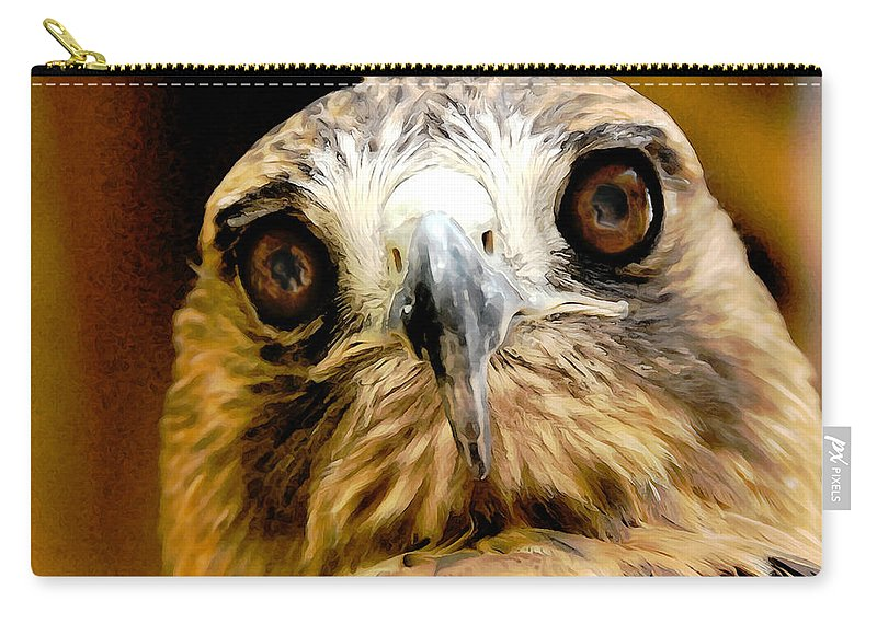 Hawk Carry-all Pouch featuring the photograph Hawkeye by Lois Bryan