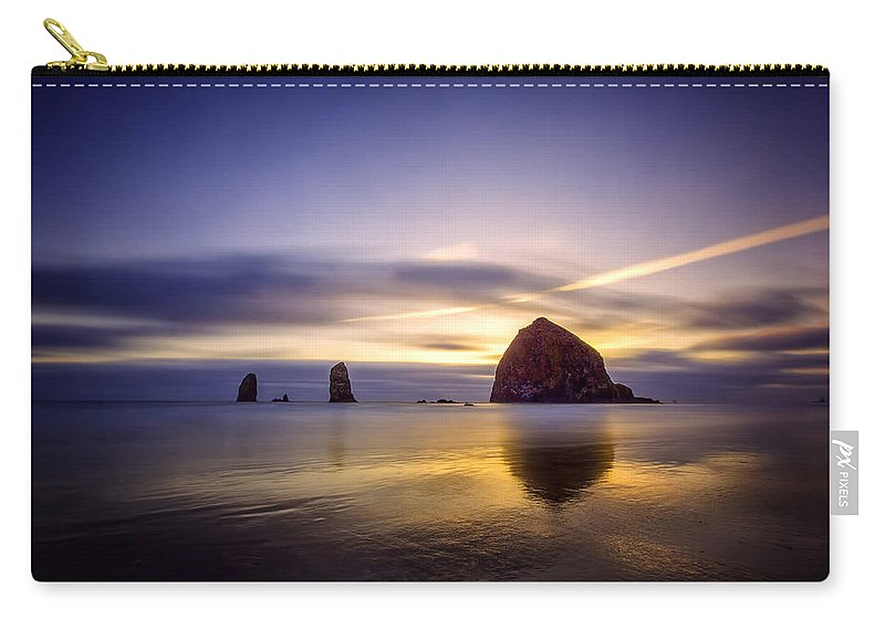 Oregon Carry-all Pouch featuring the photograph Haystack Afterglow by Rick Berk