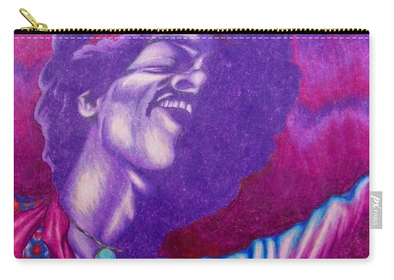 Michael Carry-all Pouch featuring the drawing Haze by Michael TMAD Finney