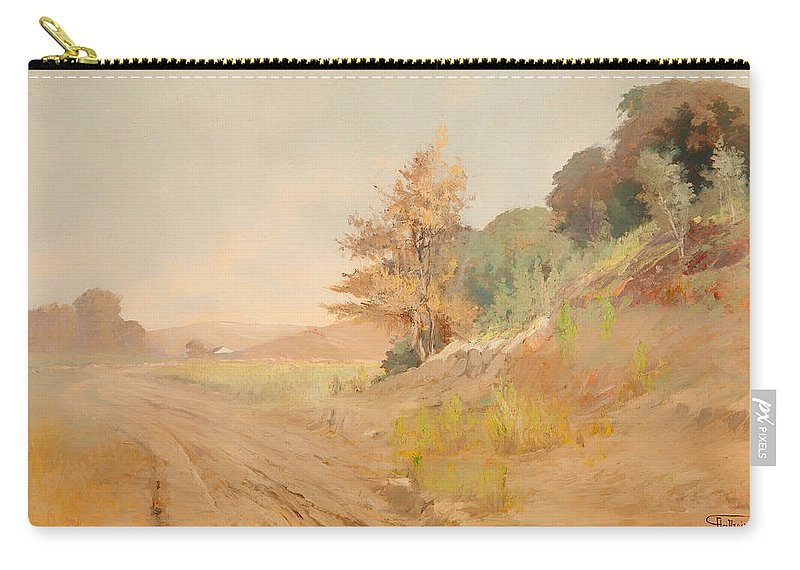 Painting Carry-all Pouch featuring the painting Hazy Day by Mountain Dreams