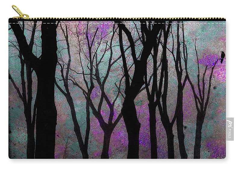 Purple Carry-all Pouch featuring the mixed media Hazy Purple by Gothicrow Images