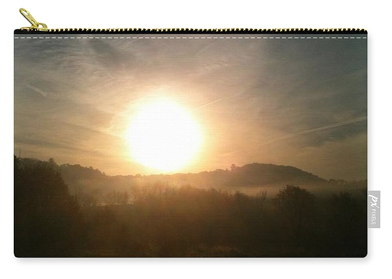 Sunrise Carry-all Pouch featuring the photograph Hazy Sunrise by Coleen Harty