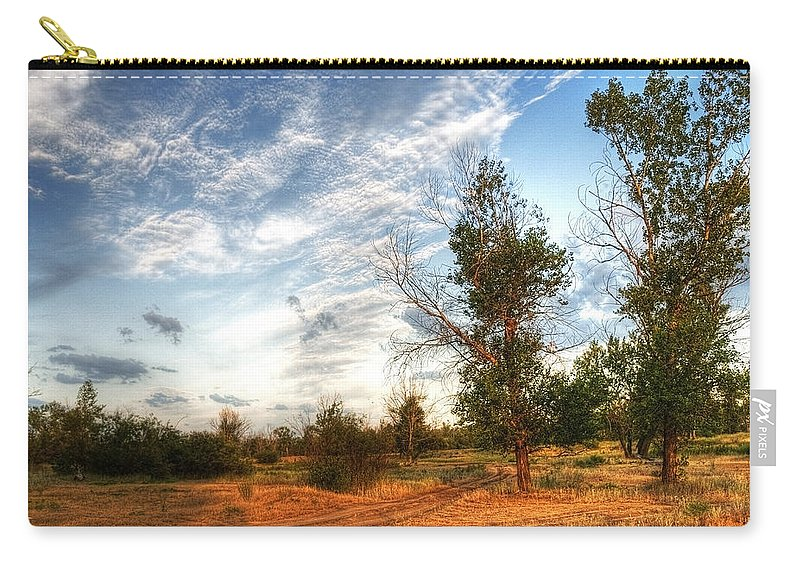 Art Carry-all Pouch featuring the photograph Hdr Landscape by Svetlana Sewell