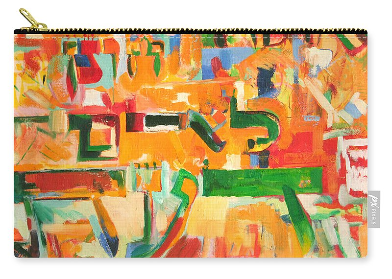 Jewish Art Carry-all Pouch featuring the painting He Graciously Endows Man With Wisdom by David Baruch Wolk