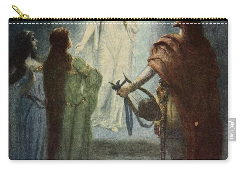 Myth Carry-all Pouch featuring the drawing He Saw A Beautiful Woman, From The by Ferdinand Leeke