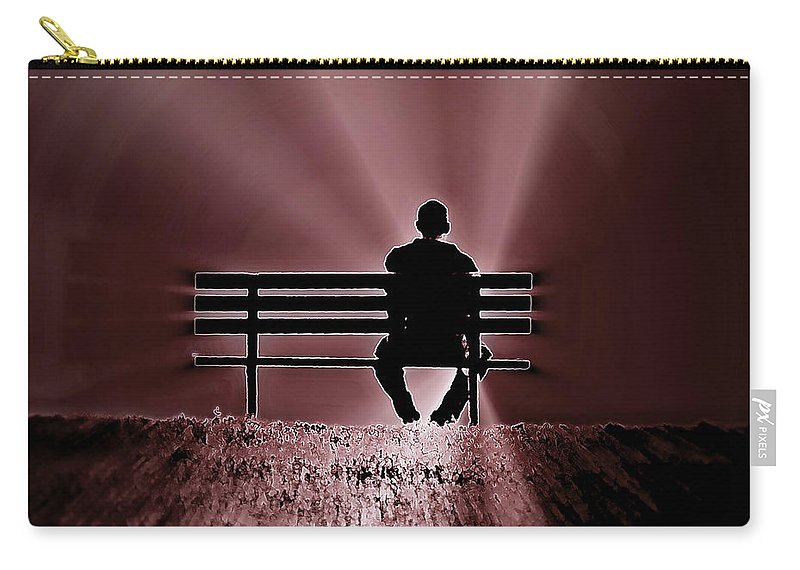Inspirational Carry-all Pouch featuring the photograph He Spoke Light Into The Darkness by Micki Findlay