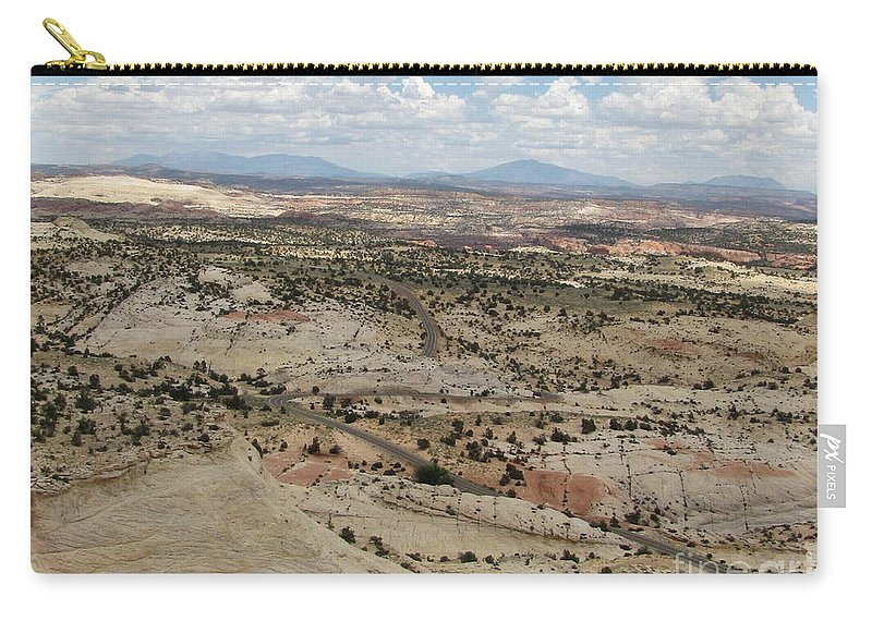 Utah Carry-all Pouch featuring the photograph Head Of The Rocks Overlook - Utah's Scenic Byway 12 by Sheryl Young
