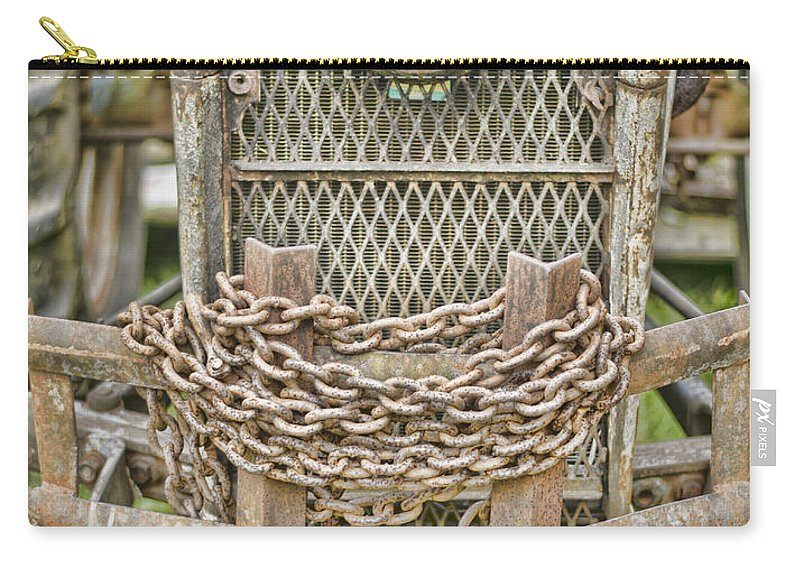 Tractor Carry-all Pouch featuring the photograph Head On by Heather Applegate