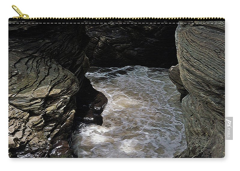 Linville Falls Carry-all Pouch featuring the photograph Headed For A Fall by Lydia Holly
