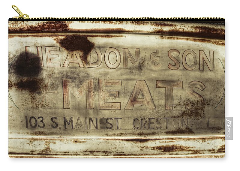 Car Show Carry-all Pouch featuring the photograph Headon And Son by Lindley Johnson