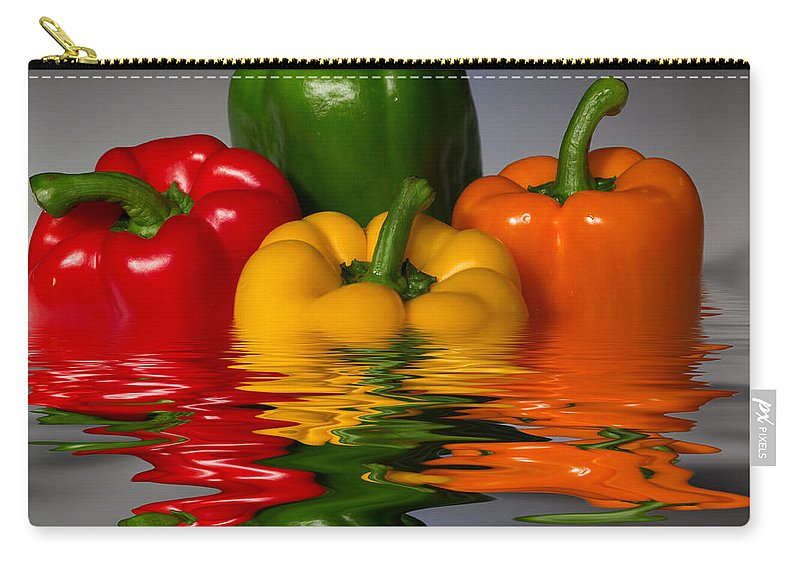 Peppers Carry-all Pouch featuring the photograph Healthy Reflections by Shane Bechler