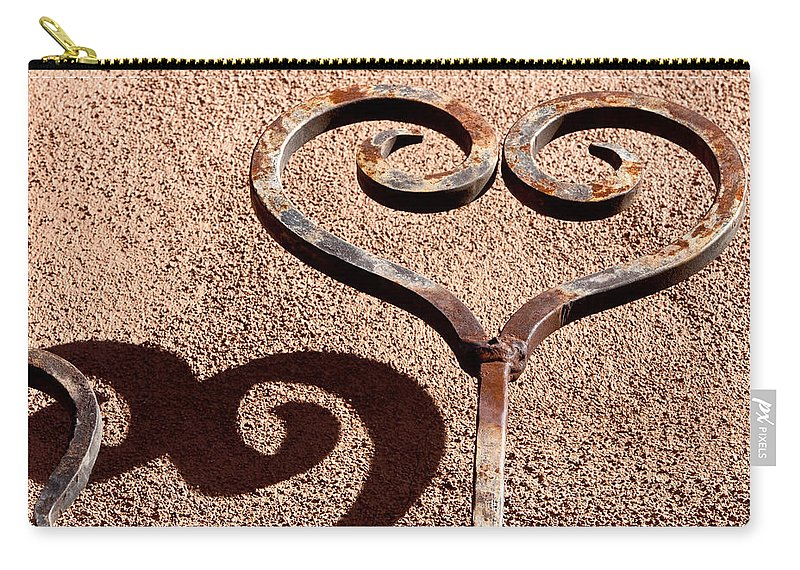 Santa Fe Carry-all Pouch featuring the photograph Heart And Shadow by Art Block Collections